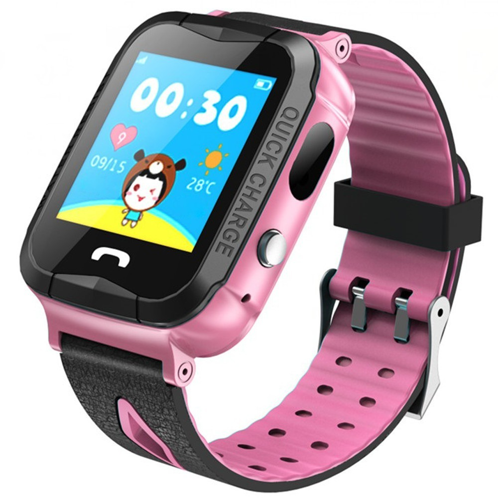 Ceas GPS Copii iUni Kid6, Touchscreen, Telefon incorporat, BT, Camera 2MP, Buton SOS, Rezistent la apa, Roz