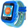 Ceas GPS Copii, iUni Kid27, Touchscreen 1.22 inch, BT, Telefon incorporat, Buton SOS, Albastru