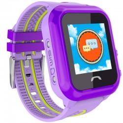 Ceas GPS Copii, iUni Kid27, Touchscreen 1.22 inch, BT, Telefon incorporat, Buton SOS, Mov
