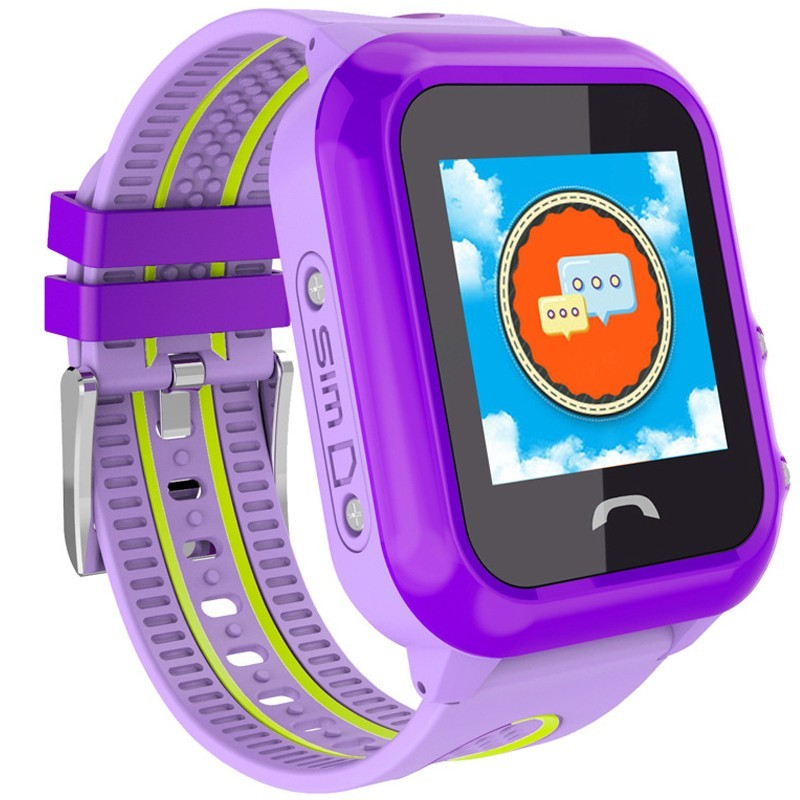 Ceas GPS Copii, iUni Kid27, Touchscreen 1.22 inch, BT, Telefon incorporat, Buton SOS, Mov