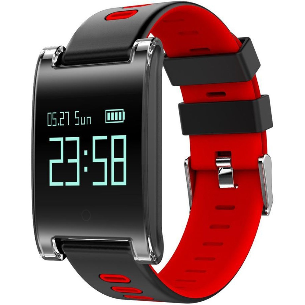 Bratara Fitness iUni DM68 Plus, Display OLED, Pedometru, Monitorizare puls, Notificari, Compatibil cu Android si iOS, Rosu