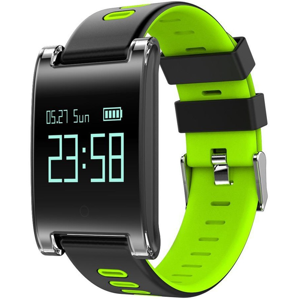 Bratara Fitness iUni DM68 Plus, Display OLED, Pedometru, Monitorizare puls, Notificari, Compatibil cu Android si iOS, Verde
