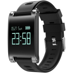 Bratara Fitness iUni DM68 Plus, Display OLED, Pedometru, Monitorizare puls, Notificari, Compatibil cu Android si iOS, Negru