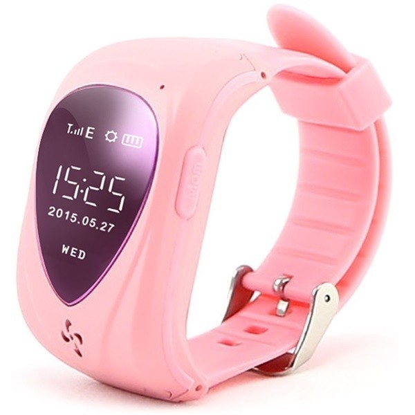 Ceas GPS Copii iUni U11,Telefon incoporat, Alarma SOS, Pink