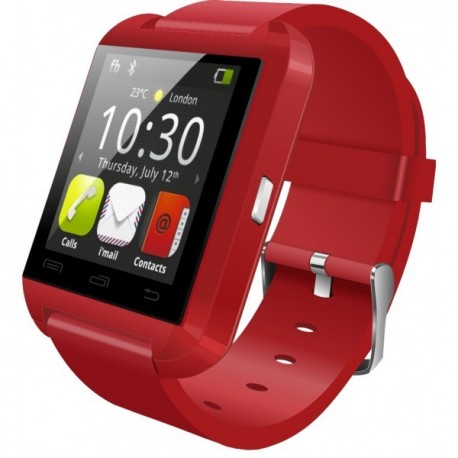 Smartwatch iUni U8+, BT, LCD 1.44 inch, Notificari, Rosu