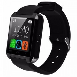 Smartwatch iUni U8+, BT, LCD 1.44 inch, Notificari, Negru