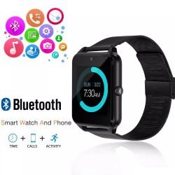 Ceas Smartwatch cu Telefon iUni Z60, Curea Metalica, Touchscreen, BT, Camera, Notificari, Antizgarieturi, Aluminiu
