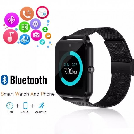Ceas Smartwatch cu Telefon iUni Z60, Curea Metalica, Touchscreen, BT, Camera, Notificari, Antizgarieturi, Aluminiu