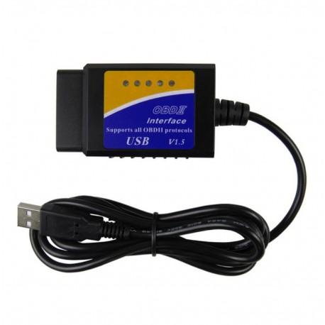 Interfata diagnoza auto Techstar OBD2 USB cu Cip ELM V1.5