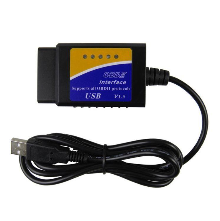 Interfata diagnoza auto Techstar OBD2 USB cu Cip ELM V1.5 imagine techstar.ro 2021