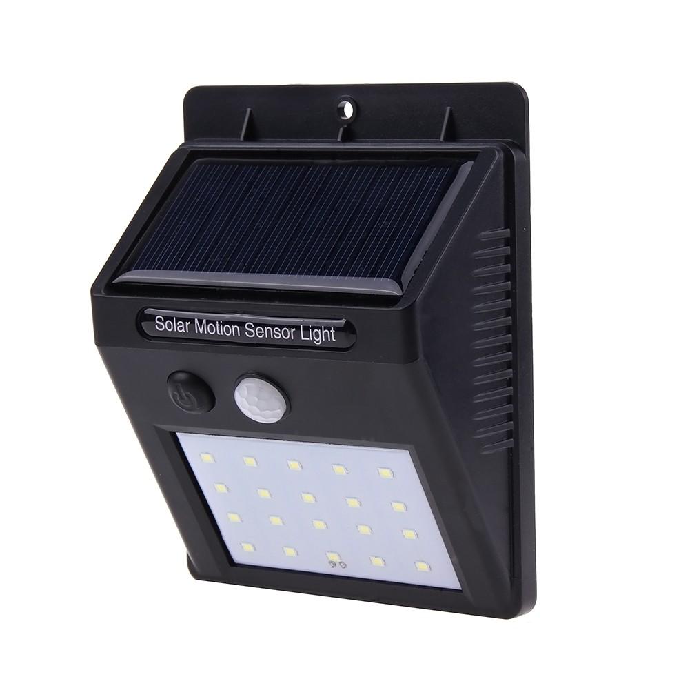 Proiector LED Cu Panou Solar si Senzor de Miscare DX10 Lampa 20 LED-uri imagine techstar.ro 2021