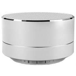 Boxa Portabila Bluetooth iUni DF11, 3W, USB, Slot Card, AUX-IN, Radio, Aluminiu, Argintiu