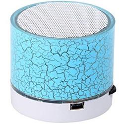 Boxa Portabila Bluetooth iUni DF08, Small Size, 520 mAH, 3W, USB, Slot Card, AUX-IN, Radio, Aluminiu, Albastru