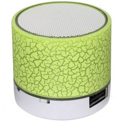 Boxa Portabila Bluetooth iUni DF08, Small Size, 520 mAH, 3W, USB, Slot Card, AUX-IN, Radio, Aluminiu, Verde