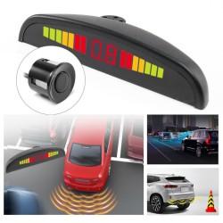 Set Senzori parcare auto detector parktronic display radar monitor 4 senzori NEGRU