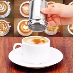 Set Sita pentru decorat cafeaua din inox + 16 forme